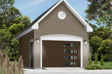 House Plan Design - European Exterior - Front Elevation Plan #23-429