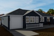 Traditional Style House Plan - 3 Beds 2 Baths 1699 Sq/Ft Plan #1060-60 Exterior - Rear Elevation