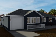 Dream House Plan - Traditional Exterior - Rear Elevation Plan #1060-60