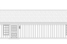 Country Exterior - Rear Elevation Plan #932-163