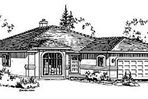 House Blueprint - Ranch Exterior - Front Elevation Plan #18-108