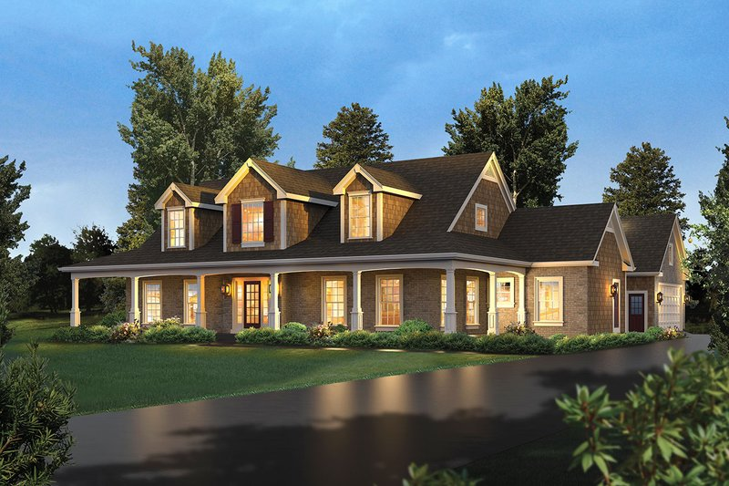 Country Exterior - Front Elevation Plan #57-644