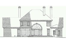 Southern Exterior - Rear Elevation Plan #137-170
