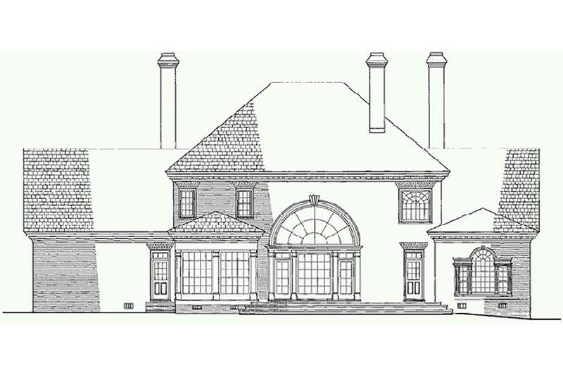 Southern Exterior - Rear Elevation Plan #137-170 - Houseplans.com