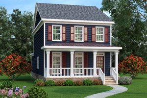 Southern Exterior - Front Elevation Plan #419-238