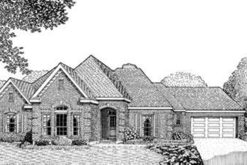 Dream House Plan - European Exterior - Front Elevation Plan #410-353