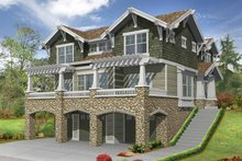 Craftsman Exterior - Front Elevation Plan #132-312