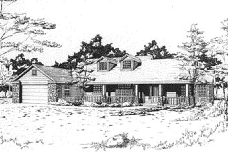 European Style House Plan - 3 Beds 2.5 Baths 1856 Sq/Ft Plan #24-162 Exterior - Front Elevation
