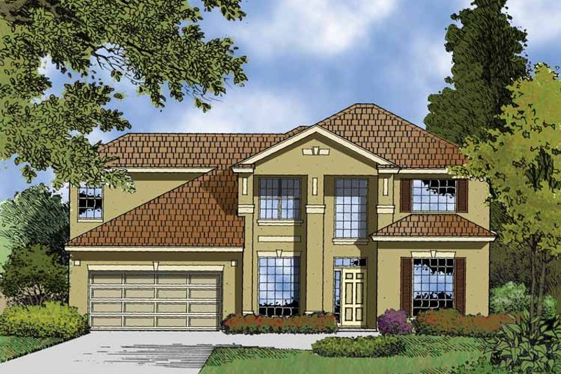 Contemporary Exterior - Front Elevation Plan #1015-51