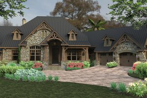 Dream House Plan - Craftsman Exterior - Front Elevation Plan #120-246