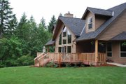 Craftsman Style House Plan - 3 Beds 2.5 Baths 3129 Sq/Ft Plan #943-22 Exterior - Rear Elevation