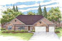 Traditional Exterior - Front Elevation Plan #435-13