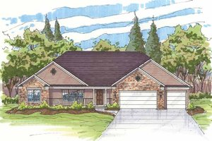 Dream House Plan - Traditional Exterior - Front Elevation Plan #435-13