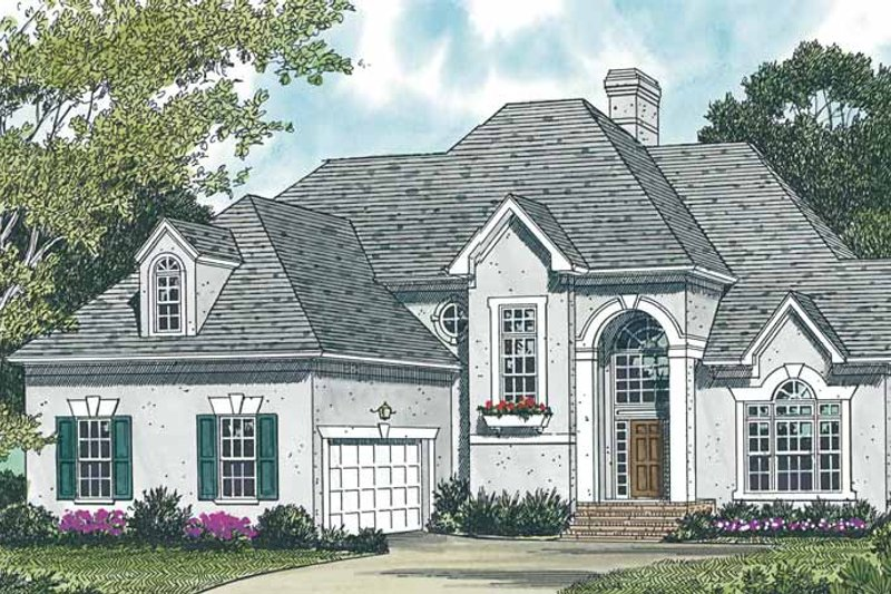 European Exterior - Front Elevation Plan #453-137 - Houseplans.com