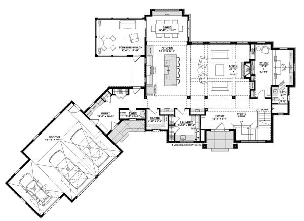 Home Plan - European Floor Plan - Main Floor Plan #928-342