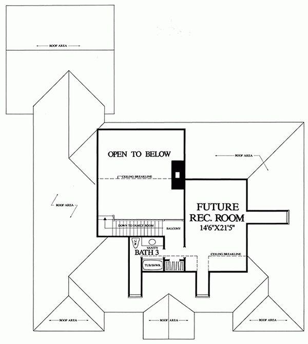 Southern Floor Plan - Upper Floor Plan Plan #137-179