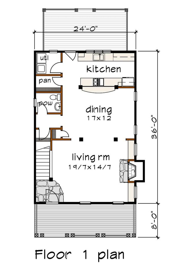House Plan Design - Traditional Floor Plan - Main Floor Plan #79-268