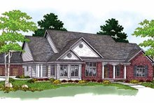 Dream House Plan - Ranch Exterior - Front Elevation Plan #70-1350