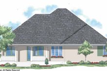 House Plan Design - Country Exterior - Rear Elevation Plan #930-186