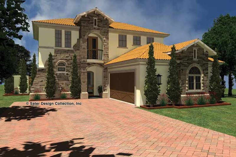 House Plan Design - Mediterranean Exterior - Front Elevation Plan #930-435