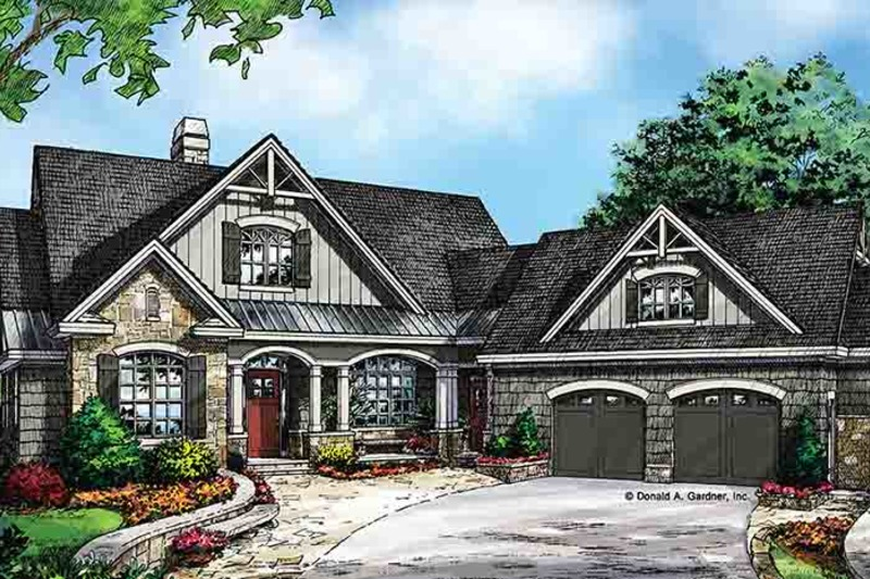 Craftsman Exterior - Front Elevation Plan #929-970 - Houseplans.com