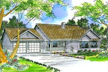 Ranch Exterior - Front Elevation Plan #124-312