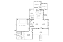Craftsman Floor Plan - Main Floor Plan Plan #895-81