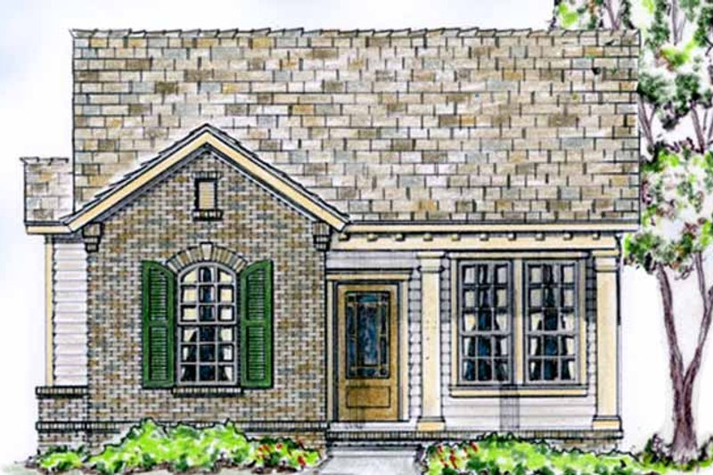Country Exterior - Front Elevation Plan #410-3561
