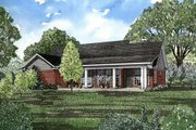 Traditional Style House Plan - 3 Beds 2 Baths 1525 Sq/Ft Plan #17-114 Exterior - Rear Elevation