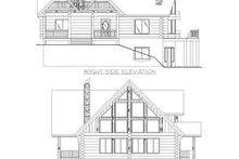 Log Exterior - Rear Elevation Plan #117-397