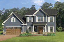 House Plan Design - Craftsman Exterior - Front Elevation Plan #1010-114