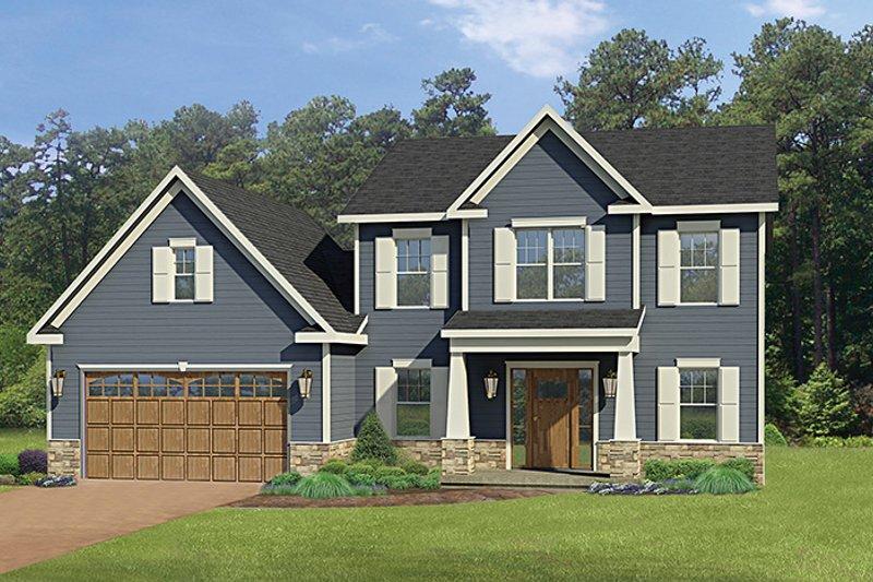 House Plan Design - Craftsman Exterior - Front Elevation Plan #1010-114