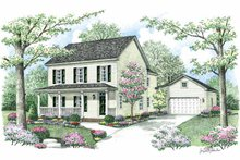 Country Exterior - Front Elevation Plan #1002-3