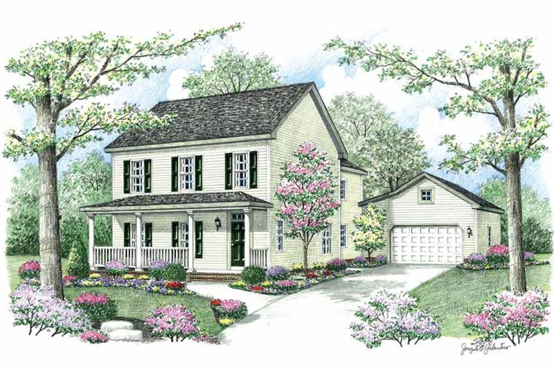 Country Exterior - Front Elevation Plan #1002-3 - Houseplans.com
