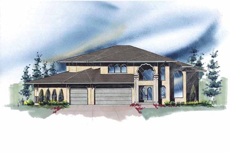 Mediterranean Exterior - Front Elevation Plan #509-428 - Houseplans.com