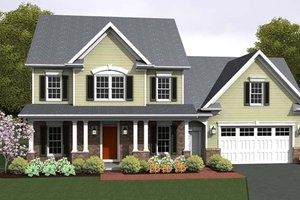 Country Exterior - Front Elevation Plan #1010-78