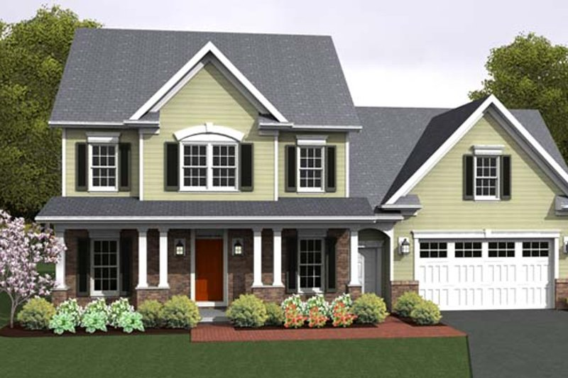 Country Exterior - Front Elevation Plan #1010-78 - Houseplans.com