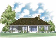 Country Exterior - Rear Elevation Plan #930-376