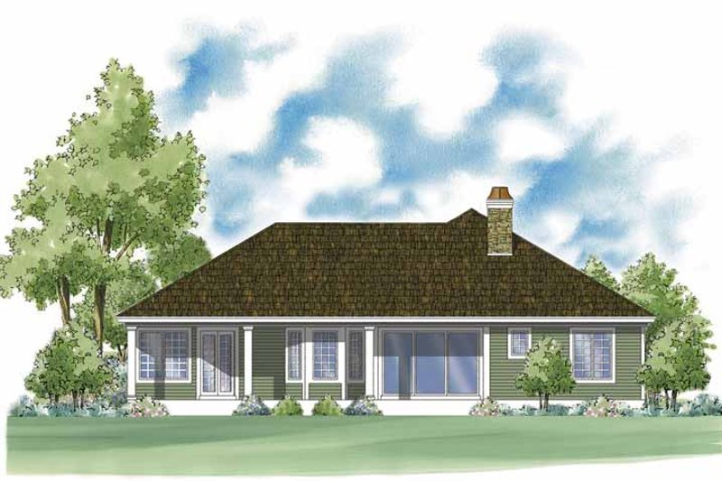 Country Exterior - Rear Elevation Plan #930-376 - Houseplans.com