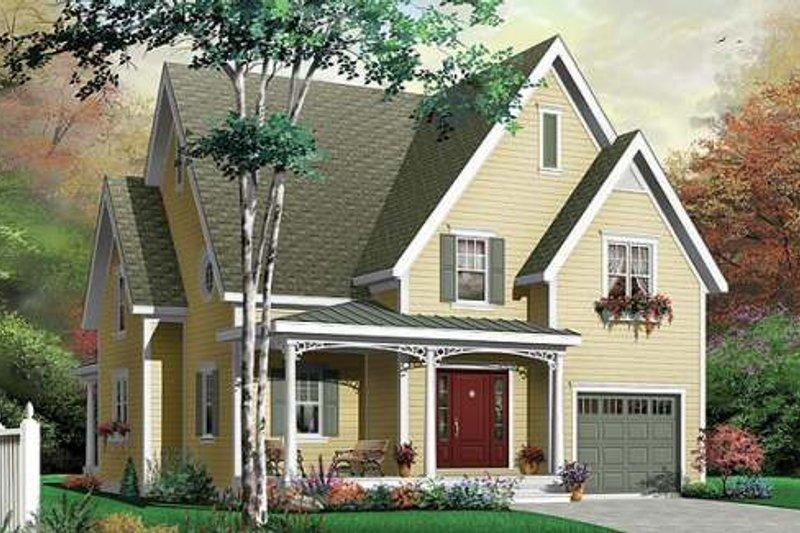 Dream House Plan - European Exterior - Front Elevation Plan #23-335