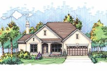 Ranch Exterior - Front Elevation Plan #929-592