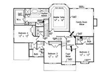 Traditional Floor Plan - Upper Floor Plan Plan #927-32