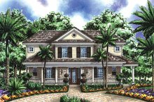 Architectural House Design - Contemporary Exterior - Front Elevation Plan #1017-52