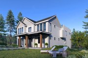 Contemporary Style House Plan - 5 Beds 4 Baths 4144 Sq/Ft Plan #1066-100 Exterior - Rear Elevation