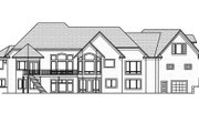 European Style House Plan - 5 Beds 4.5 Baths 6690 Sq/Ft Plan #51-338 Exterior - Rear Elevation