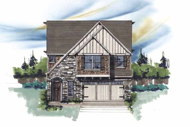 Craftsman Exterior - Front Elevation Plan #509-365