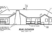 Dream House Plan - Ranch Exterior - Rear Elevation Plan #60-452