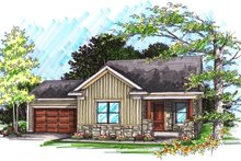 Ranch Exterior - Front Elevation Plan #70-1018