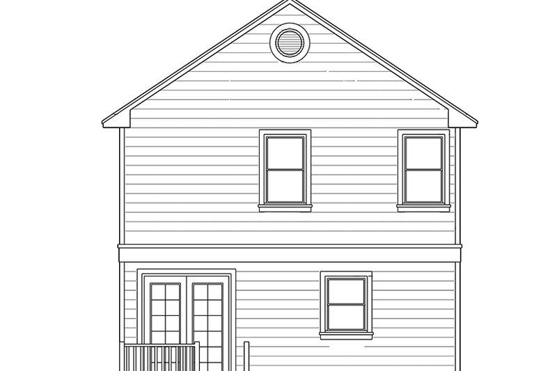 Colonial Exterior - Rear Elevation Plan #1058-91 - Houseplans.com
