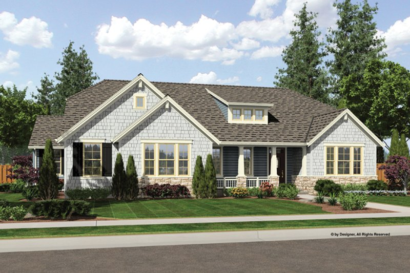 House Plan Design - Craftsman Exterior - Front Elevation Plan #46-838